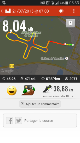 Même Run avec NikePlus